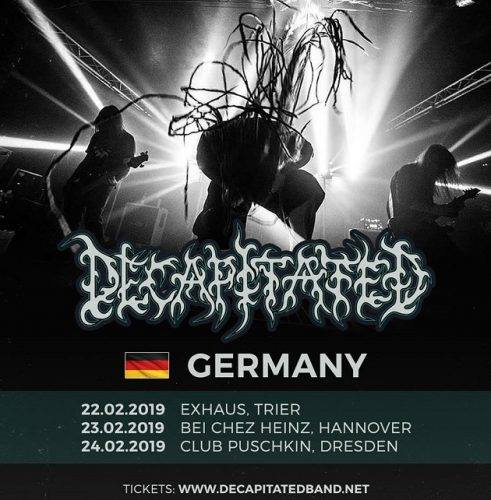 Flyer Decapitated Tour 2019