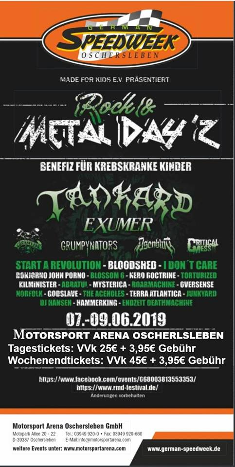 Flyer Rock & Metal Day'z 2019